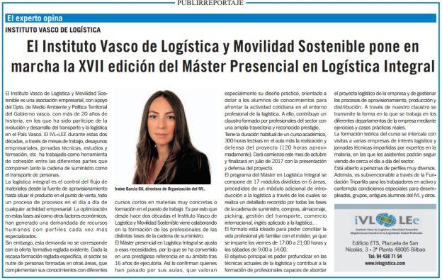 anuncio experto opina master logistica integral en Bilbao El Correo